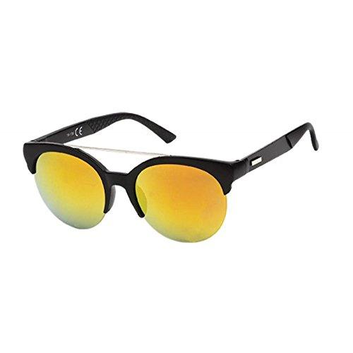 Chic-Net Gafas de sol Lentes 400 arco de metal corrugado UV ...