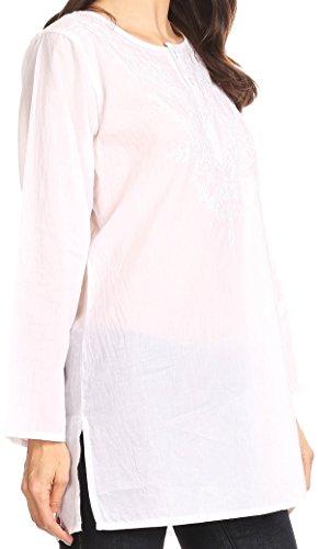 Broderie boutonn Blanc Florale avec Blouson Sakkas Longues Ariana Manches FZxHTT7q