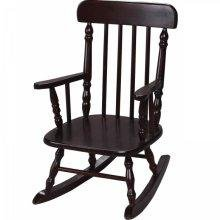 - Gift Mark Deluxe Children's Spindle Rocking Chair, Espresso