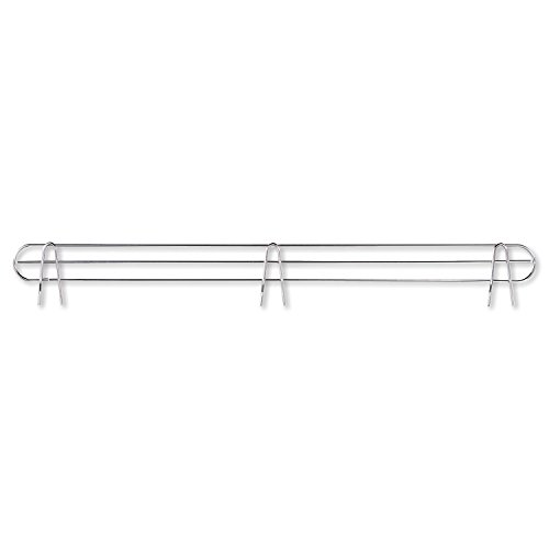 Alera SW59BS36SR Wire Shelving Back Support 36-Inch Wide Silver 2-Pack