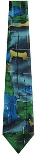 Jerry-Garcia-Mens-Extra-Long-Fashion-Designer-Brand-Silk-Necktie-Ties
