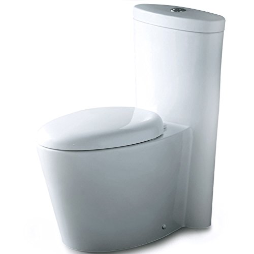 Ariel CO-1009 Monterey Contemporary Elongated One Piece Toilet with Dual Flush by Ariel Bath