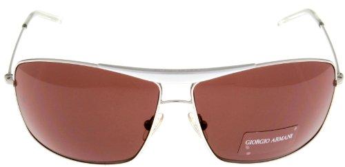 Giorgio Armani Sunglasses Unisex Polarized Aviator GA140S YB7 Silver