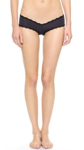 Les Coquines Women's Dominique Cheeky Panties, Noir, 2