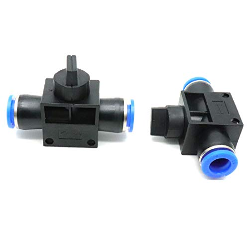 ZXHAO Speed Control Valve Push in Air Tube Pneumatic Speed Controller 10mm/0.39 inch(HVFF 10)2pcs
