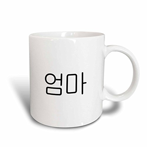 3dRose mug_193661_2 Oma Word for Mom in Korean Script Mother in Different Languages Ceramic Mug, 15 oz, White