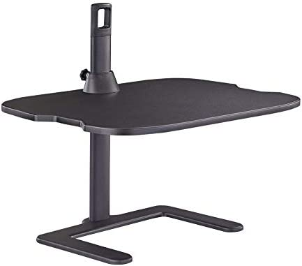 Safco Stance Height-Adjustable Laptop Stand, Black