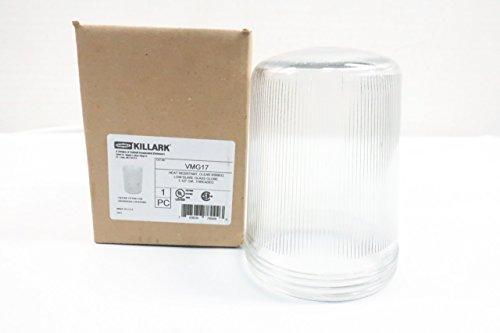 - KILLARK VMG17 Heat Resistant Clear Ribbed Low Glare Glass Globe D626268