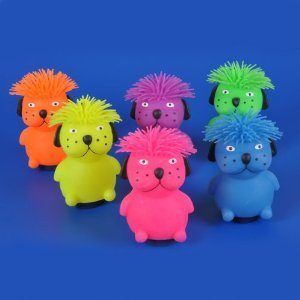 """Rhode Island Novelty 6"""" Hairdo Dog Puffer Toy Activity and P"""