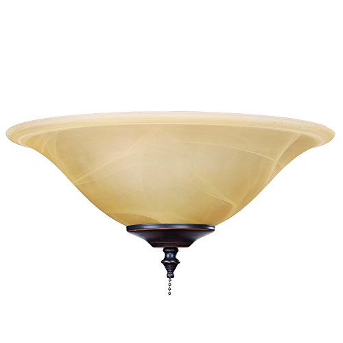 Yosemite Home Decor LK8336-ORB Ceiling Fan Accessories Light Kit, Oil Rubbed Bronze, 17 -