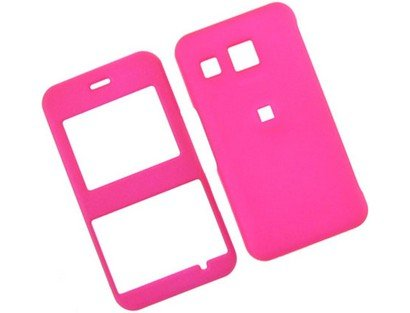 Lg Invision Plastic Case (Rubberized Hard Plastic Phone Cover Case Hot Pink For LG Invision CB630)