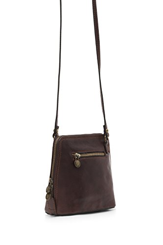 Shoulder Leather Bag Dark Superior Cross Light Italian Natural Vegetable Di Messenger Square Montte Chocolate Tanned Women Jinne Chocolate Thick Small Body wfqaH4Tv47