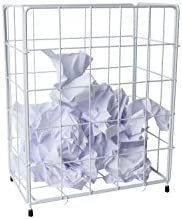 Papierkorb aus Drahtgeflecht klein ca. 36 x 28 x 18cm weiß