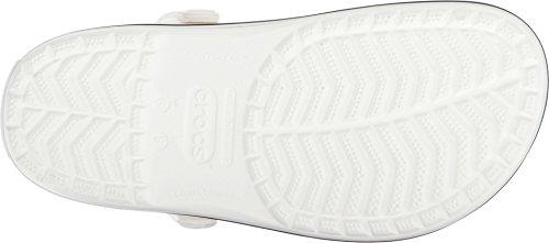 Crocs Unisex Crocband Täppa Vit / Blå Jean 10 Kvinnor / 8 Män Just Oss