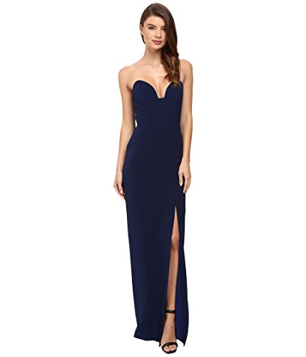 s Casey Bustier Gown Navy Dress (Nicole Miller Formal)