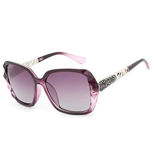 Sol de Las Marca KOMNY tamaño A de Gafas Mujeres de de Las la Lujo de Alta polarizaron Femeninas de del Gafas prismáticas Las Calidad Sol de diseño Gafas Las F Gran de FvFrOxCPqw