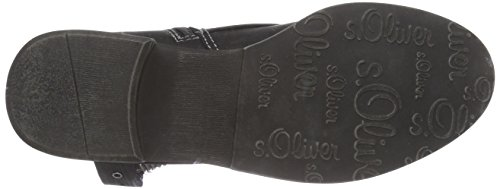 s.Oliver 25313 Damen Kurzschaft Stiefel Schwarz (Black 001)