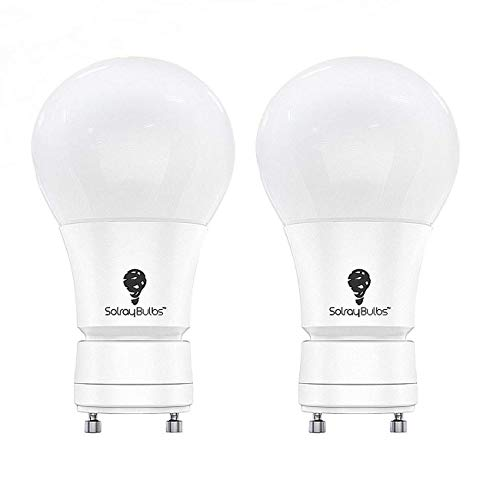 GU24 Dimmable LED Bulb 2Pack Warm White 3000k A19 9W (60-Watt Equivalent) Dimmable, Soft White (Pack of 2) by Solray
