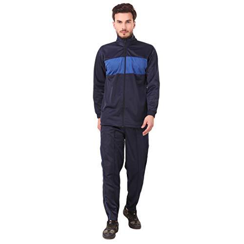 31RO0BRNujL. SS500  - Fashion7 Men's Polyester Tracksuit - Tracksuit for Men Sports (Blue)