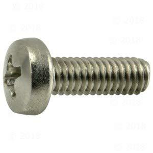 Hard-to-Find Fastener 014973191306 Phillips Pan Machine Screws, 4mm-0.70 x 12mm, Piece-20