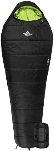 TETON Sports LEEF Lightweight Mummy Sleeping Bag; Great for Hiking, Backpacking and Camping; Free Compression