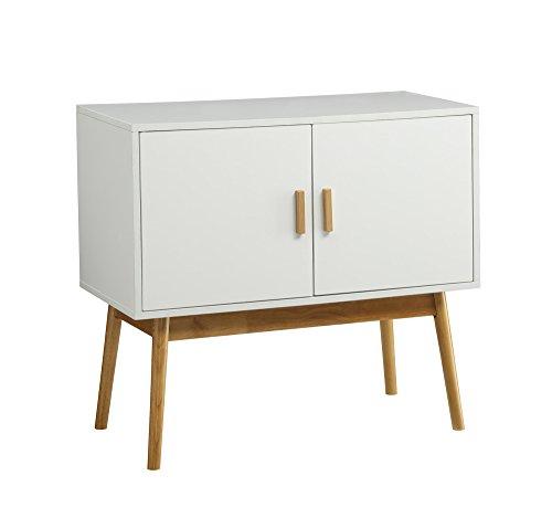 Convenience Concepts Oslo Console/Storage Cabinet, White/Woodgrain