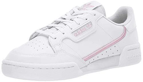 adidas Originals Women's Continental 80 Sneaker, White/True Pink/Clear Pink, 7.5 Medium US