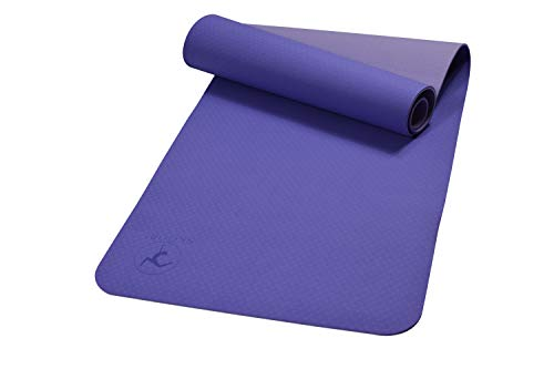 Cheap SKOORI Multipurpose Yoga Mats – Premium Quality 6mm TPE Yoga Mat- Non-Slip and Comfortable Design – Great Lumbar Support – Purple – Ideal for Yoga, Pilates, Fitness