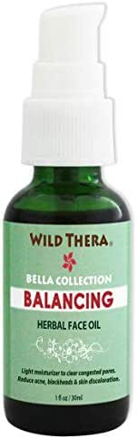 Wild Thera Balancing Face Oil. Herbal Oil for Acne, Unclog Pores, Blackheads, White heads, rosacea, eczema, red, itchy skin. Reduce pore size, pore minimizer, skin toner with Green Tea.