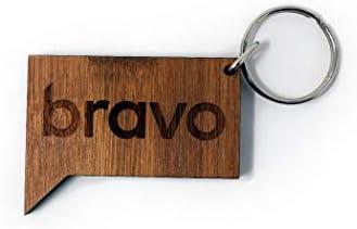 Bravo ロゴ 木製キーチェーン