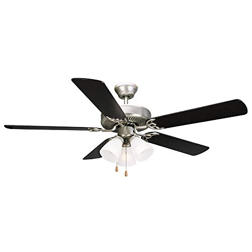 Design House 153957 Millbridge Ceiling Fan, 52-Inch, Satin Nickel