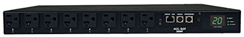 Tripp Lite Switched PDU with ATS, 20A, 16 Outlets (5-15/20R), 120V, 2 L5-20P / 5-20P Inputs, 12 ft. Cords, 1U Rack-Mount Power - Sites Online Outlet