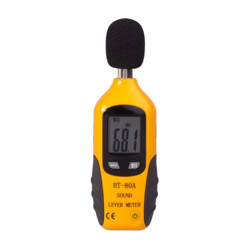 Flexzion Digital Decibel Sound Meter Level Tester Pressure Noise Measurement Tool Portable 30 dBA - 130 dBA with LCD Display Battery and Frequency Weighting for Musicians Sound Audio (Portable Pressure Calibrators)