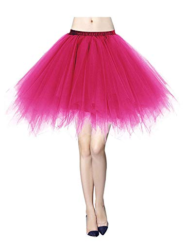 MizHome Womens Rose Red Plus Size Tutu Skirt Layered Tulle Skirt Adult Halloween Costumes for $<!--$19.77-->