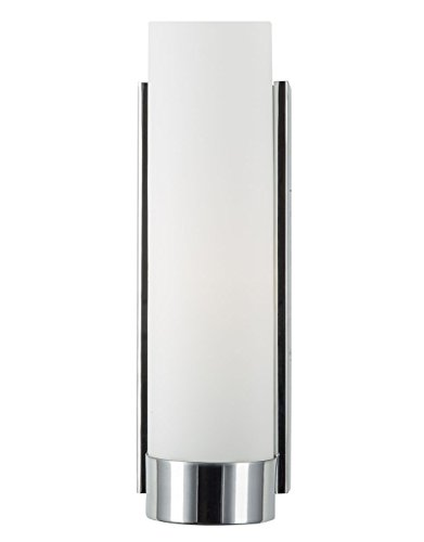 linea di liara elina wall sconce one light bath vanity lamp polished chrome with frosted glass shade ll wl301 pc