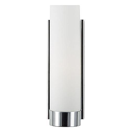 elina bathroom vanity light chrome w frosted shade linea di liara ll wl301 pc - Chrome Bathroom Sconces