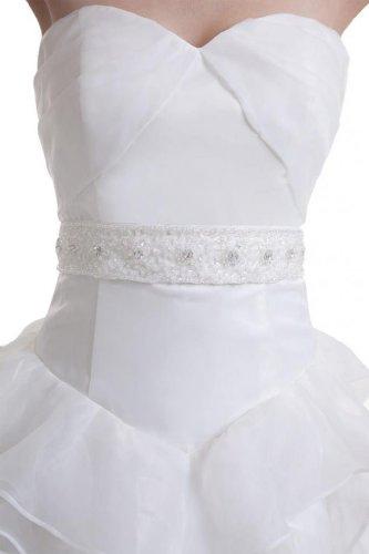 Dearta Des Femmes Une Ligne / Princesse Train De Cour Chérie Robes De Mariage En Organza Blanc