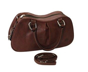Tony Perotti Brown Bag - Tony Perotti Italian Vegetale Leather Shoulder Bag - TP8812 Brown