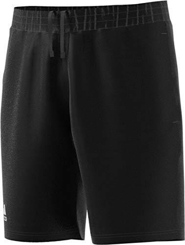 adidas Men's Club 9 Inch Tennis Short, Black/White, Large