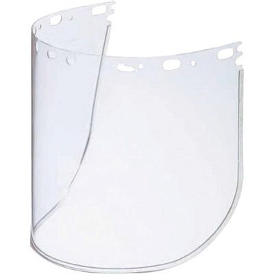 North 11390055 by Honeywell Protecto-Shield 8 1/2'' X 15'' X .07'' Clear Aluminum Bound Acetate Faceshield For Use With Headgear (1/EA)