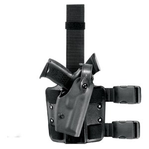 Safariland 6004 SLS Tactical Holster with Dbl Leg Straps Glock 34 35 Holster, Black, Right