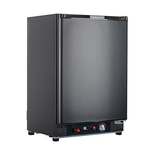 Smad 3 Way Refrigerator 12v Fridge for RV Trucks Peopane Refrigerator No Noise, AC/DC/LPG,55 Qt, Black (Propane 12v Ac)