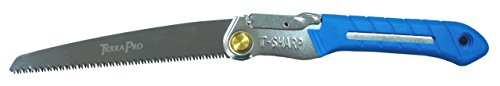 Tierra Garden 38-1715 Pro Folding Saw with Ergonomic TPR Grip, - Sandvik Hand Saw