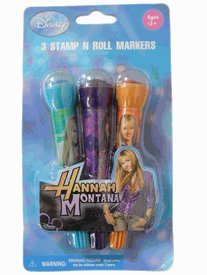Hannah Montana Stamp 'N Roll Markers - Stationery Accessories