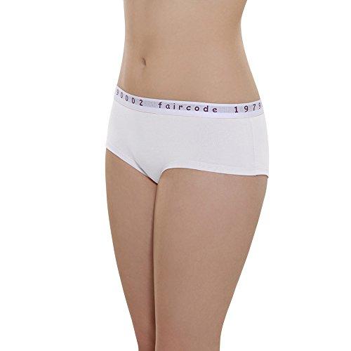 comazo Damen Hot Pant Bio-Baumwolle/Elasthan, Weiß, Gr. 40