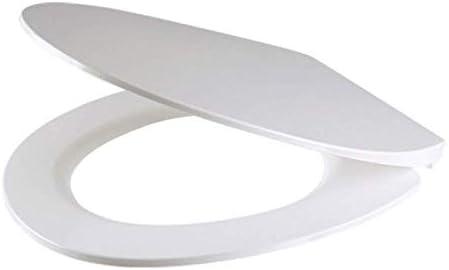 ZYL-YL HomeArts超薄型O型便座ソフトクローズ抗菌アジャスタブルトップは、バスルームイージーインストール白40.5〜44.5 * 37.5センチメートル用超耐性トイレのふたをマウント