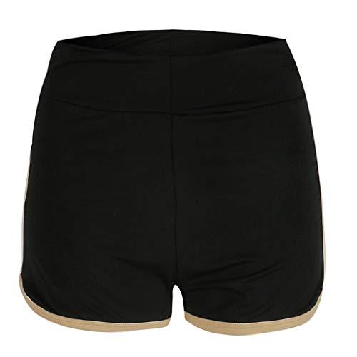Simayixx Shorts for Women Women's High Waist Microstretch Cotton Denim Shorts Pocket Sexy Soild Summer Pants Trousers Black