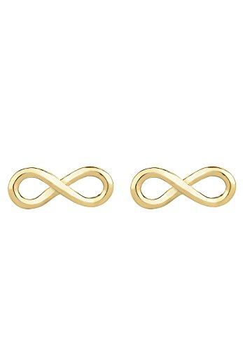 Elli de boucles d'oreilles clous femme-infini-or jaune 375 0312380814 classique