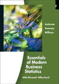 Essentials of Modern Business Statistics 4th (Fourth) Edition By Williams