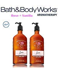 (BATH AND BODY WORKS Aromatherapy LOVE - ROSE & VANILLA Lot of 2 Body Lotion - Full Size)